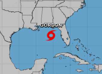 The 4 a.m. Sept. 4, 2018, weather advisory shows Tropical Storm Gordon heading for the northern Gulf Coast.