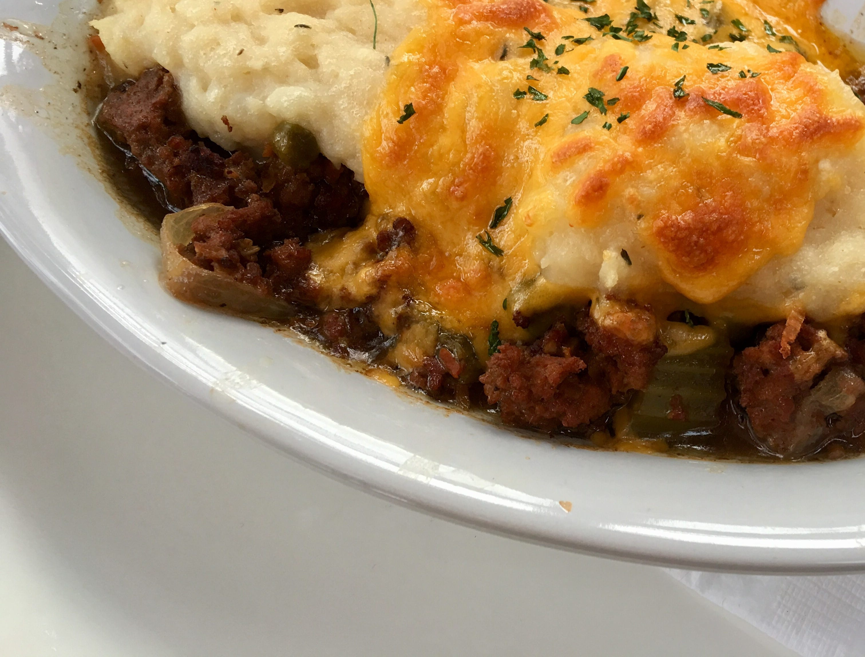OPEN: The Cottage Pie at Cottage Irish Pub was seasoned the British-Irish way, just savory enough, not watery or oily, and coated with good mash crowned with melted cheese.