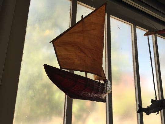 A ship designed by Burlington artist Kristian Brevik, whose work will be on display this weekend at the South End Art Hop.