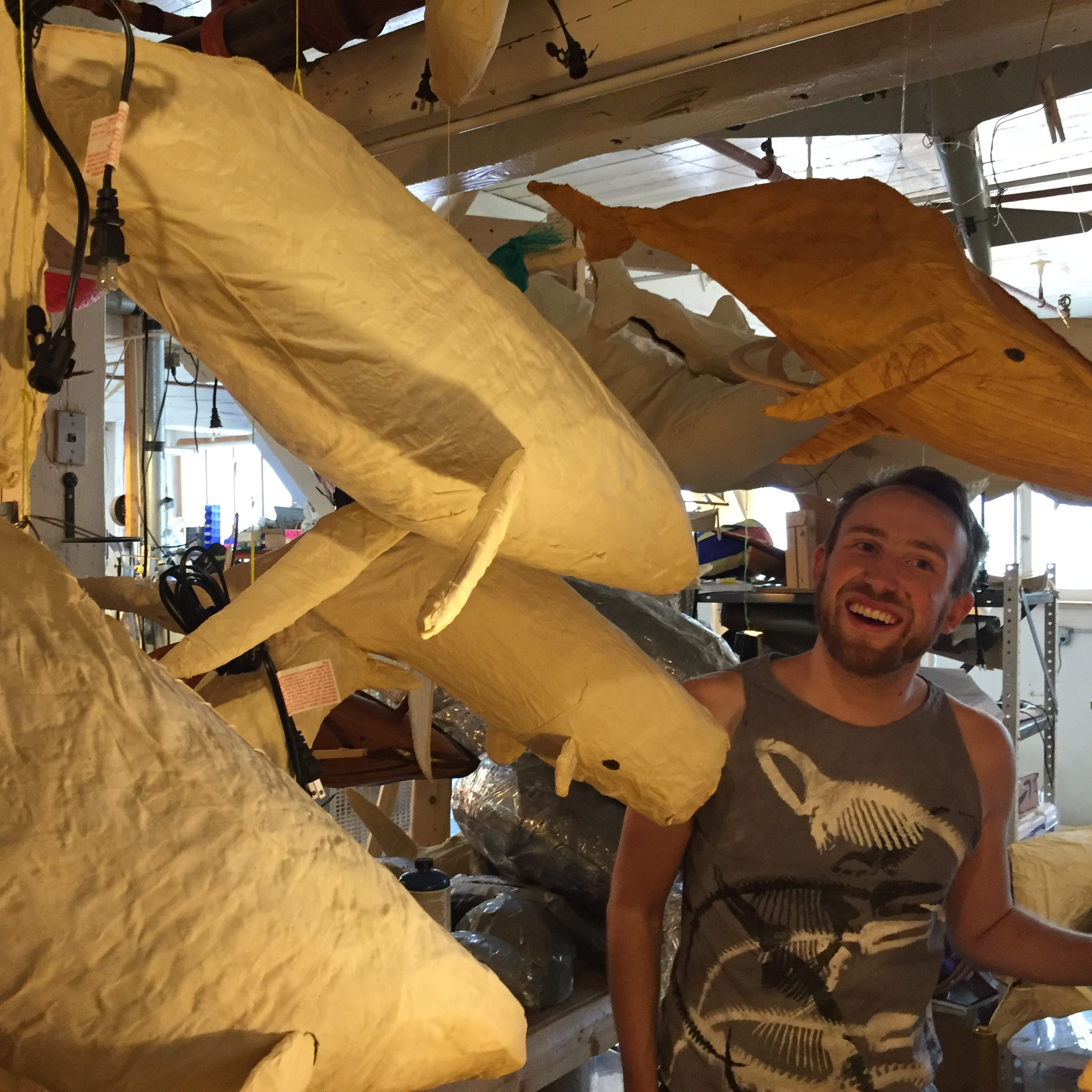 There are 600 artists at the South End Art Hop. Meet one who designs whale lanterns.