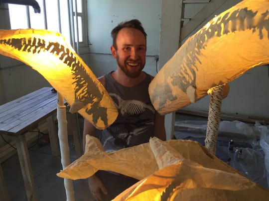 Kristian Brevik will display his whale lanterns this weekend at the South End Art Hop.