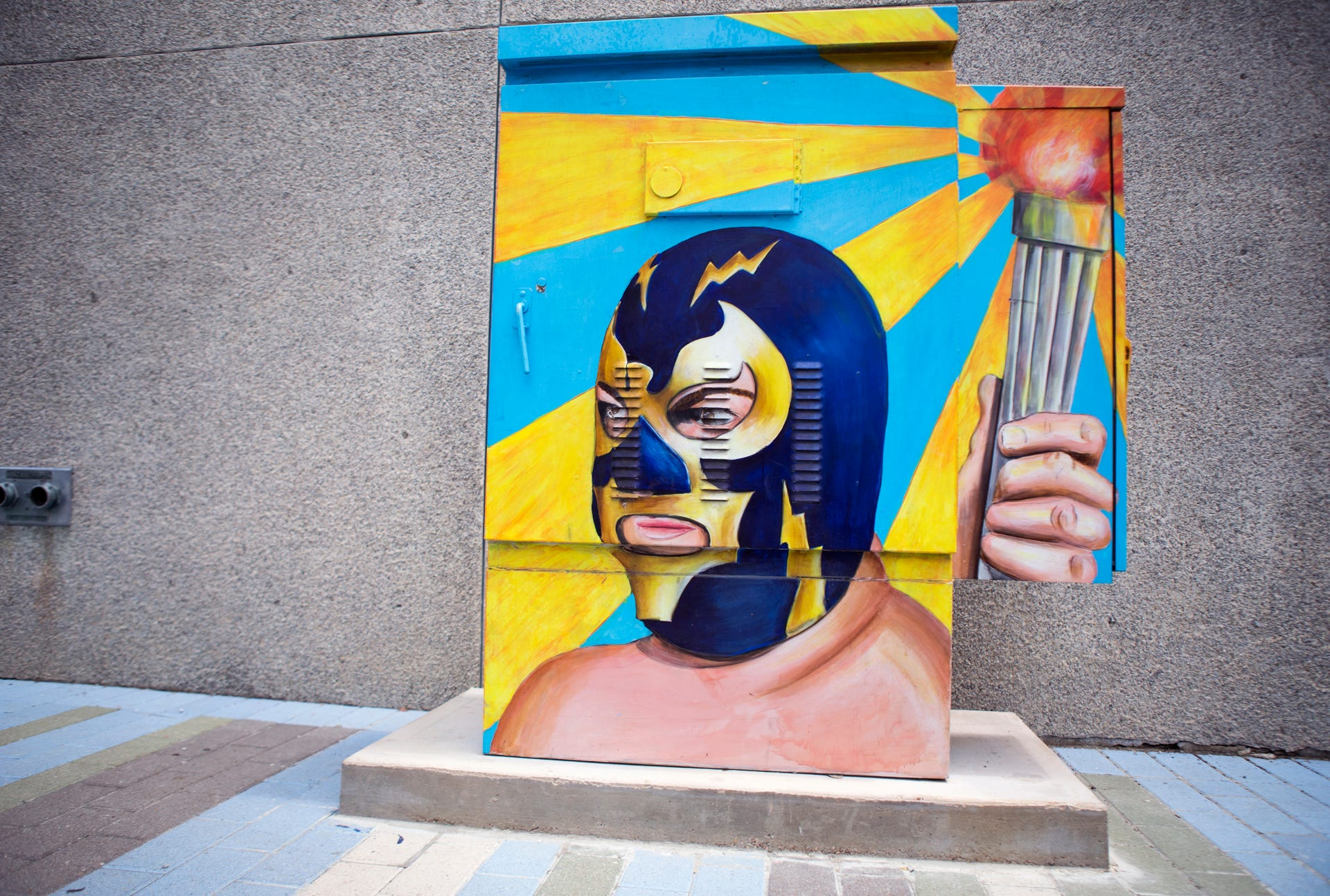 Corpus Christi Downtown Painted Electrical Boxes Speak To