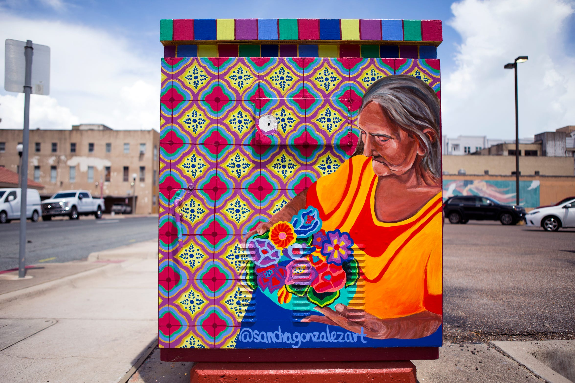 This painted utility box in downtown Corpus Christi is one that was replaced by the city. The Downtown Management District is looking for six artists to paint murals on boxes that have been replaced.