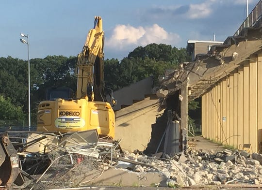 Collingswood school district officials have cited safety concerns for demolition of the high school's stadium.