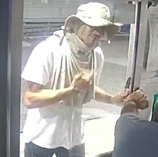 Collingswood police are asking the public to help identify this man in connection with a pair of armed robberies at a gas station and a Dunkin' Donuts Monday night.