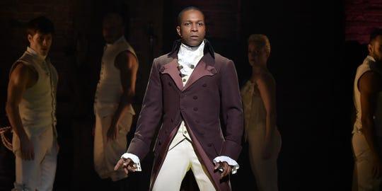"Leslie Odom Jr. in his Tony Award winning role as Aaron Burr in ""Hamilton"""
