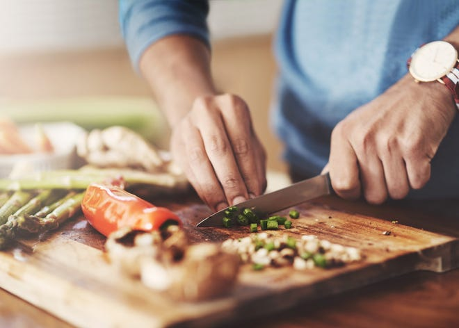 Cutting up veggies and prepping your meat / protein the night before or even days before can help speed up the actual dinner process.