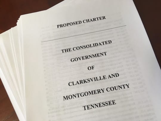 The 88-page charter for Clarksville-Montgomery County consolidated government represents the culmination of more than a year's work by a 15-member community panel tasked with drawing up a framework for changing the structure of local government.