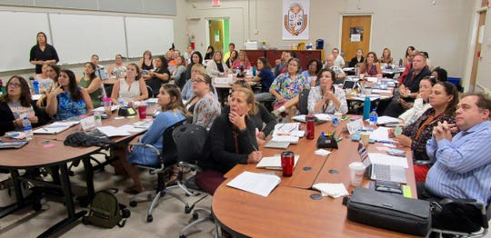 Teachers and administrators gathered at Linden Public Schools' Professional Development Resource Center for a session on helping students shape their own success.