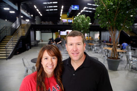 Smash Park owners Monty and Kerri Lockyear on Aug. 14, 2018.