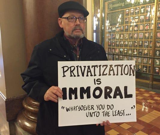 Eric Stimson Medicaid Protester