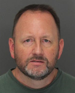 Timothy Jankowiak, 48, was charged with aggravated indecent exposure for allegedly exposing himself to another man in an LA Fitness gym in Troy on August 21, 2018.