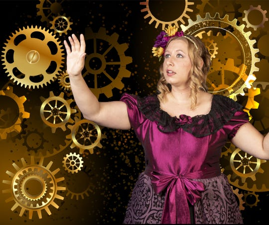 "Sarah Hawkins as Ada Lovelace in Open Book Theatre's ""Ada and the Engine."""