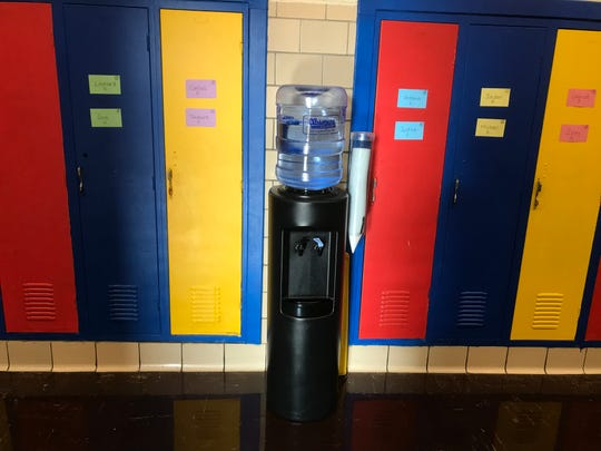 At Gardner Elementary School in the Detroit Public Schools Community District, a water cooler has been added to each floor.