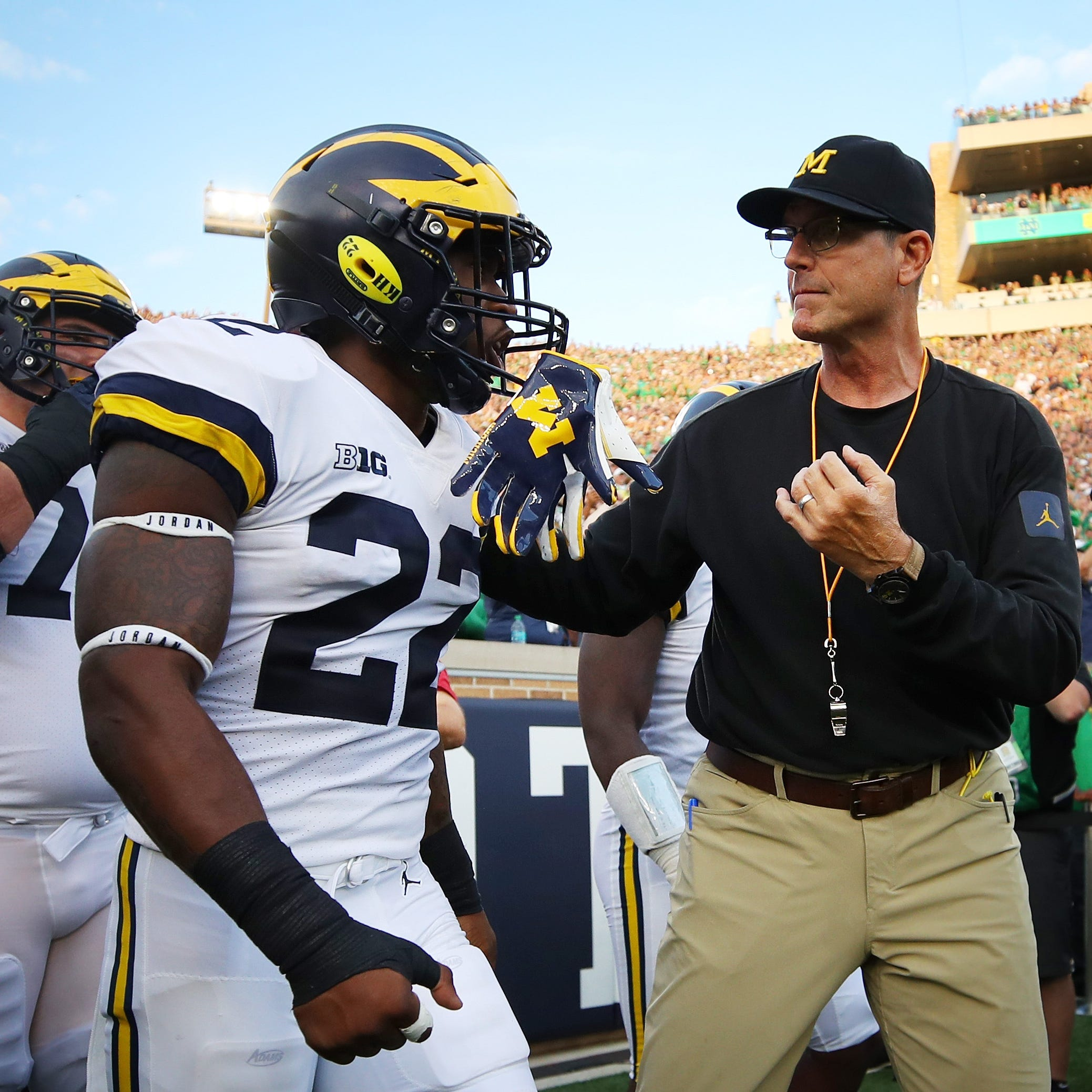 Michigan-OSU: How Karan Higdon's 'guarantee' differs from Jim Harbaugh's