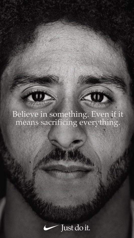 Nikes Colin Kaepernick Ad Photo Colin Kaepernick Via Twitter