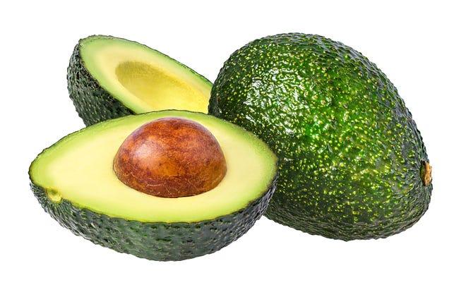 avocado isolated on white backgroundavocado isolated on white background