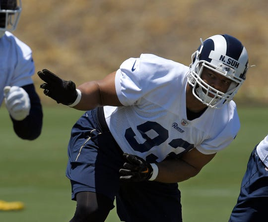 Former Lions defensive tackle Ndamukong Suh returns to Detroit as a member of the Los Angeles Rams in December.