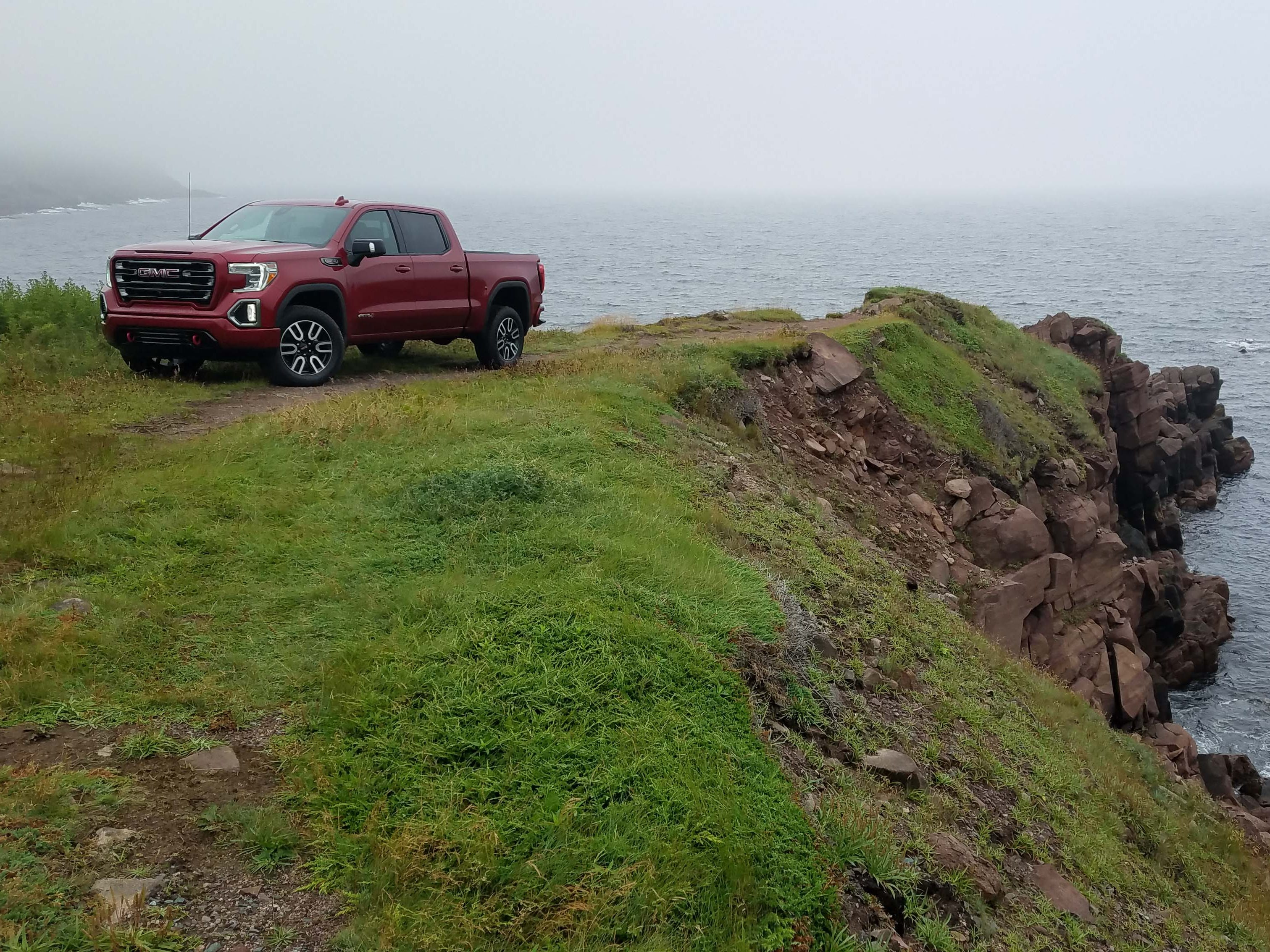 Truck country. GMC introduced its new Sierra pickup on the wind-swept coast of St. John's, Newfoundland.