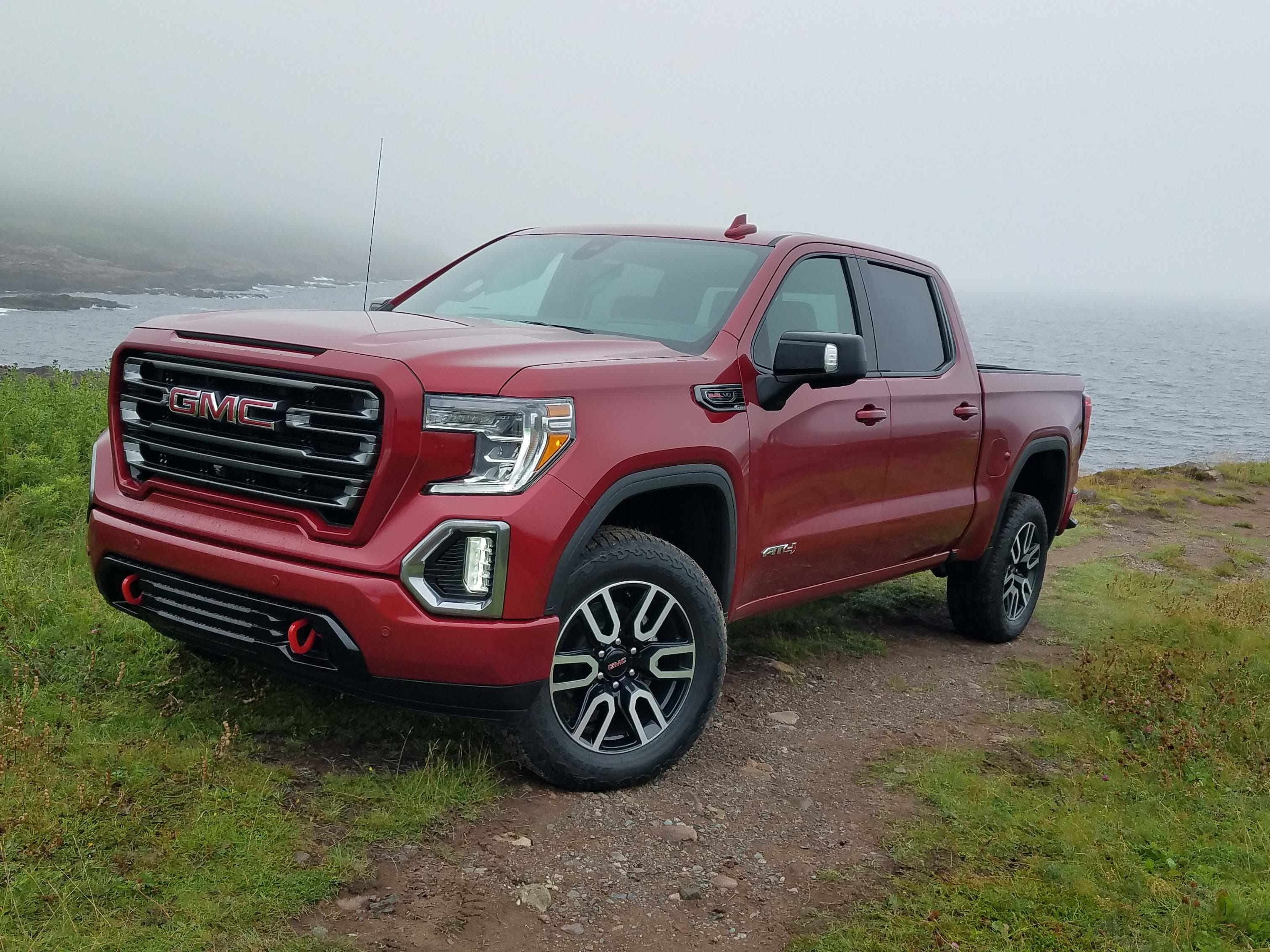 New for 2019, the GMC Sierra gets a premium off-roader, the AT4 with 18-inch wheels, a 2-inch lift, and choice of 5.3-liter and 6.2-liter V-8s.