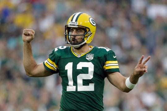Quarterback Aaron Rodgers and the Green Bay Packers come to Ford Field on Oct. 7.