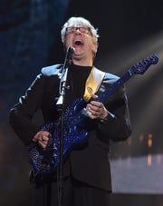 Inductee Steve Miller performs at the 31st Annual Rock and Roll Hall of Fame induction ceremony in 2016 in New York.