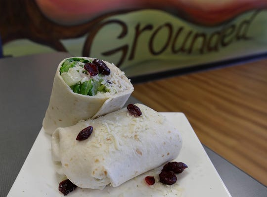 The Henrietta Chicken Salad wrap at Grounded Cafe in Green Bay.
