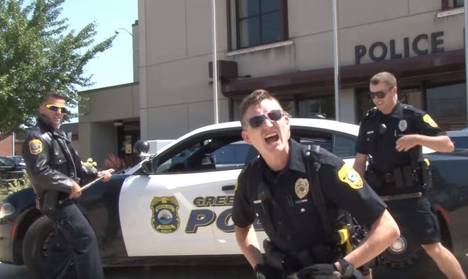 "The Green Bay Police Department lip synced to the Beastie Boys' ""Sabotage"" in response to a Green Bay Packers-themed challenge from Oshkosh."