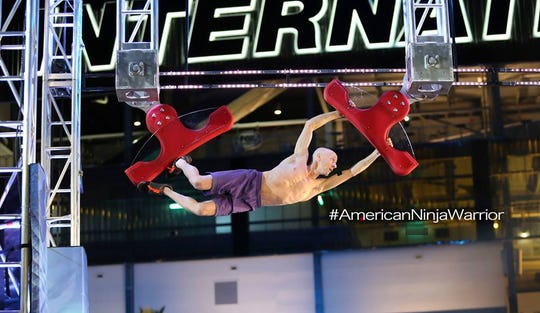 Bootie Cothran, flying high in NBC's American Ninja Warrior competition.