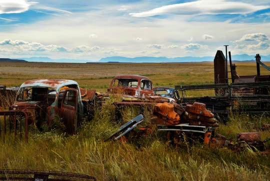 100 years worth of machinery and cars collected throught the years at the Paulus family farm, located in between Dutton and Choteau.