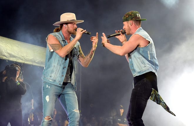 Florida Georgia Line (Brian Kelley, left, and Tyler Hubbard) will perform Sept. 7 at Indianapolis Motor Speedway.