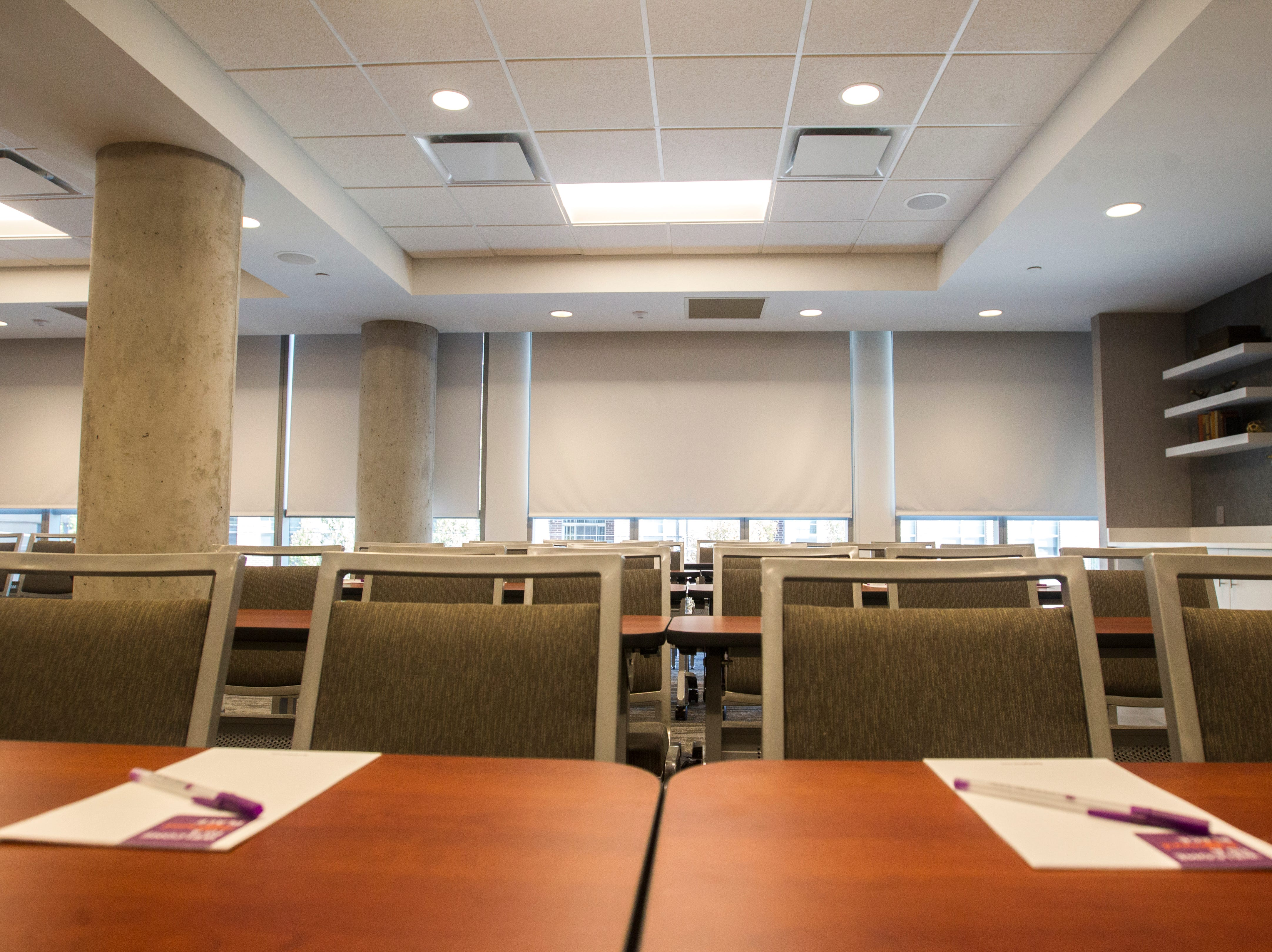 A conference room is seen on the second floor during a tour on Tuesday, Sept. 4, 2018, at Hyatt Place on the corner of Court and Linn Streets in downtown Iowa City.