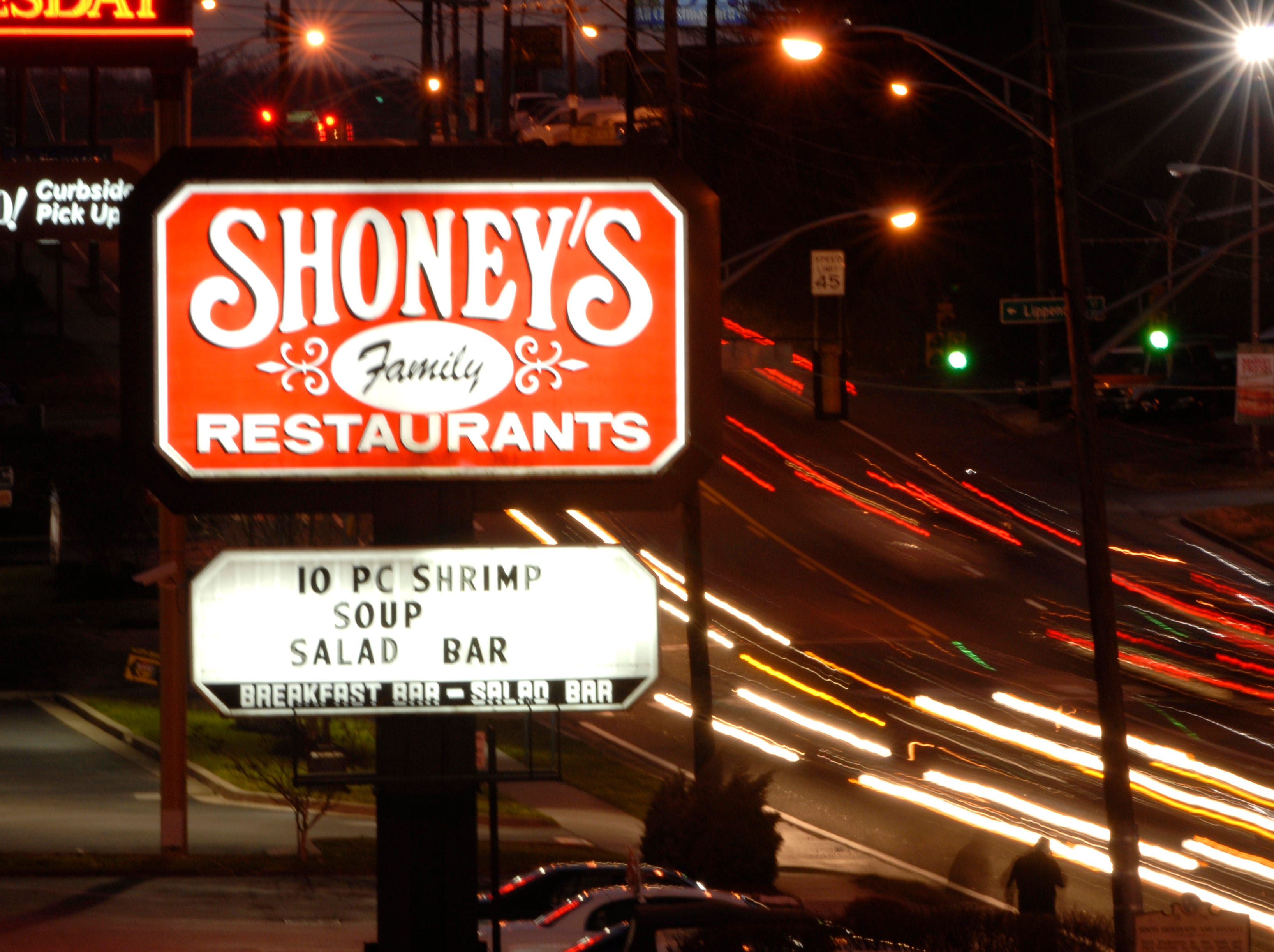 Business continues as usual at Shoney's on Chapman Highway, Tuesday, after it was announced that Royal Hospitality Corp., which operates Church's Chicken restaurants, is acquiring Shoney's Restaurants. The Atlanta-based company will take over all 282 Shoney's restaurants from Shoney's LLC, but the restaurants will continue under the name Shoney's. 1/2007