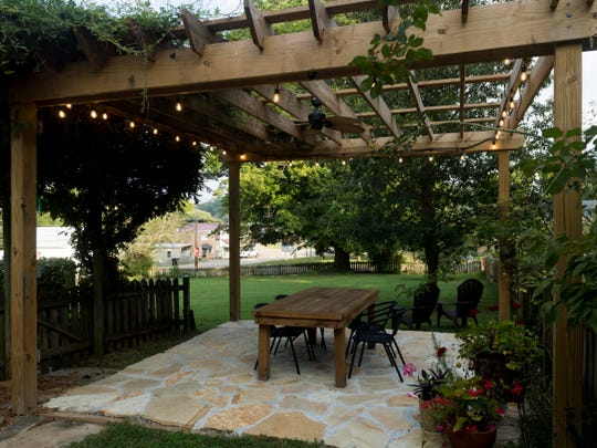 Jon and Taylor Harris' outdoor patio on Monday, August 27, 2018.