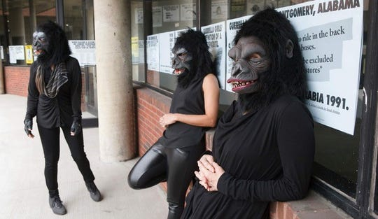 The Guerrilla Girls, a feminist activist group, is coming to Loeb Playhouse.