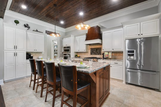 The stunning kitchen will attract any cook.