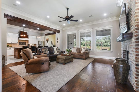 The living areas are full of natural light.