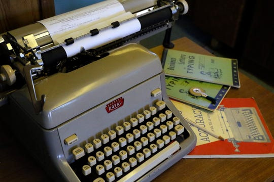 A typewriter sits on a desk Tuesday, Sept. 4, 2018, at Heimberger Business Machines in Lancaster. The company will close on Friday after 60 years of business.
