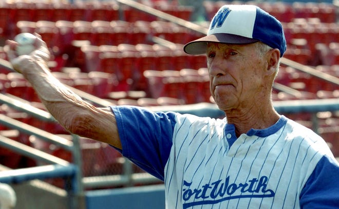 Wayne Terwilliger, shown in 2005 while managing the Fort Worth Cats, is part of Charlotte's inaugural athletic hall of fame class. He was involved in professional baseball from 1948-2010.