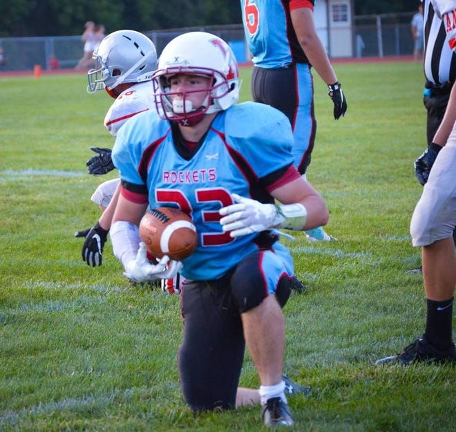 Ridgedale senior running back Josh Patterson ran for a career-high 210 yards in Friday night's 28-20 win over Vanlue.