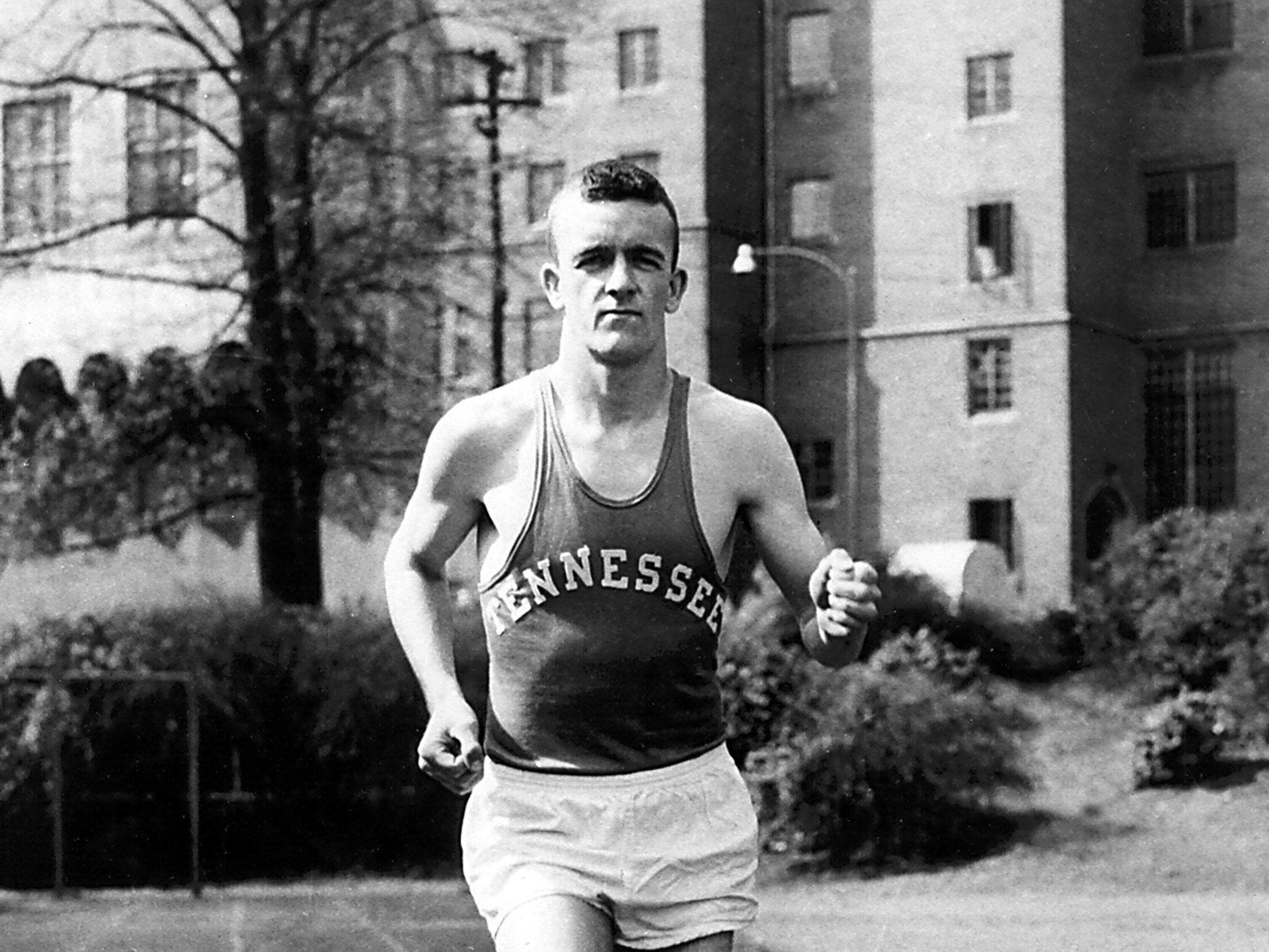 Ed Murphey won his third consecutive Southeastern Conference championship in the mile run, setting a new SEC record of 4:14 in May 1957 at Legion Field in Birmingham, AL.  His mile record (4:16) run at Neyland Stadium in 1956 stands unbroken for that venue.  He set the 1956 SEC Cross Country record in Atlanta (21:21).  Murphey also was the U.S. Marine Corps mile champion in 1958 and was inducted into the Brownsville, TN Sports Hall of Fame in 1994.  He was inducted into the Tennessee Sports Hall of Fame in 2005.  The Ed Murphey Award has been presented to the outstanding trackman each year at UT since 1965.