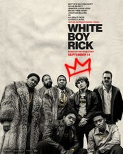 "Milwaukee rapper IshDARR (bottom right hand corner) is featured in the latest poster for the film ""White Boy Rick"" starring Matthew McConaughey, out Sept. 14."