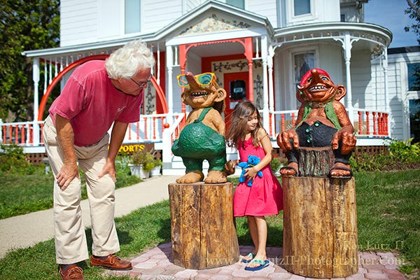 Trolls are a a whimsical nod to the Mount Horeb community's rich Scandinavian heritage and hospitality.