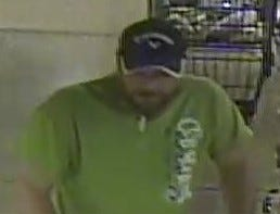 The suspect pictured  stole a cart full of alcohol at 2:29 p.m. Aug. 27  at Metro Market, 17630 W Bluemound Road.