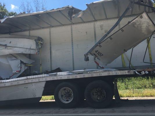 Semi truck accident in Germantown