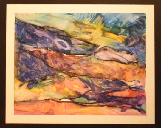 Watercolor and acrylic artist Lynnea Schliesleder is good at capturing the flow. She also does collage and wearable art. Her work will be included in the first Art on the Plaza show on Friday, Sept. 14, in West Allis.