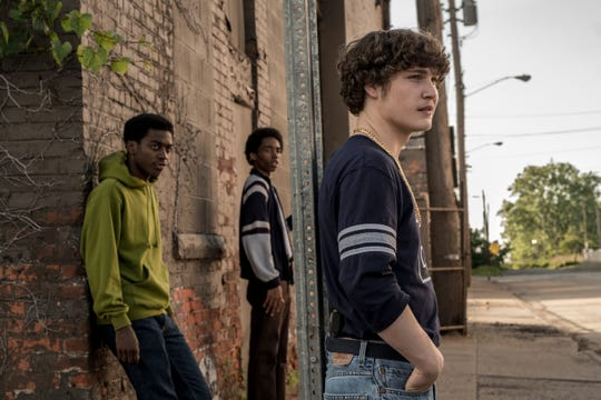"Ishmael Ali (left), known as Milwaukee rapper IshDARR, appears in the new film ""White Boy Rick"" out Sept. 14, featuring Raekwon Haynes (center) and Richie Merritt in the title role."