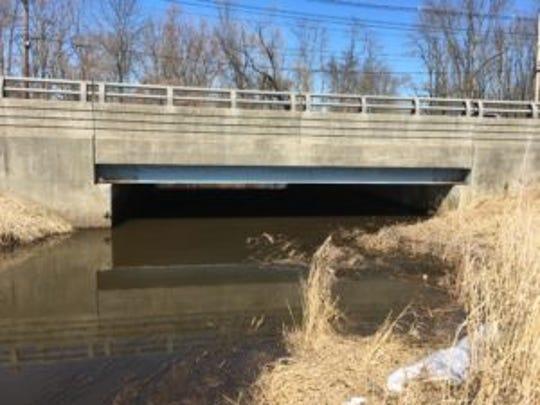 Combia Turnpike bridge span near Morristown Municipal  Airport.