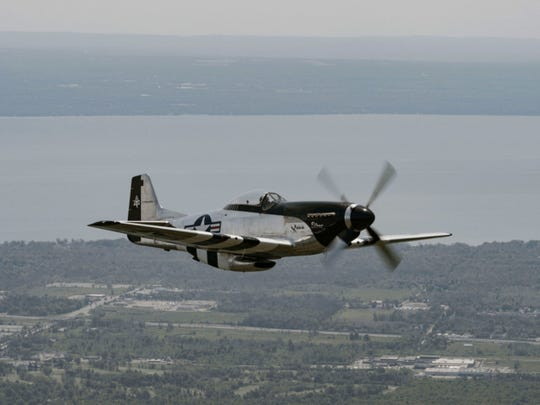 The North American Aviation P-51 Mustang is an American long-range, single-seat fighter and fighter-bomber used during World War II and the Korean War, among other conflicts.