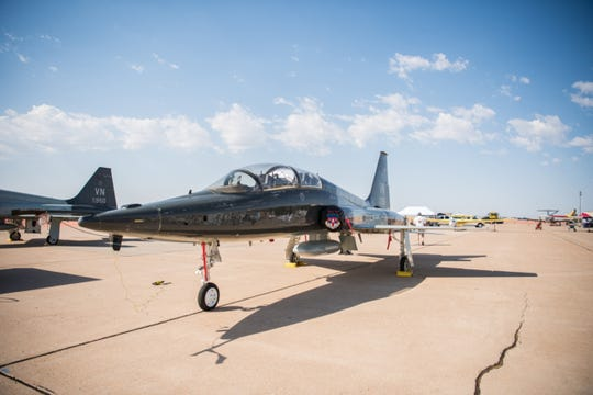 The T-38 Talon is a two-seat, twinjet supersonic jet trainer. It was the world's first supersonic trainer and is also the most produced.